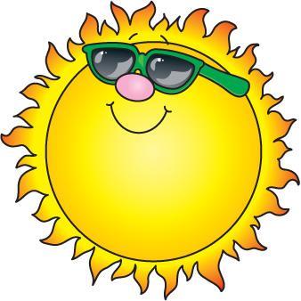 Sunshine happy free images. Clipart sun june