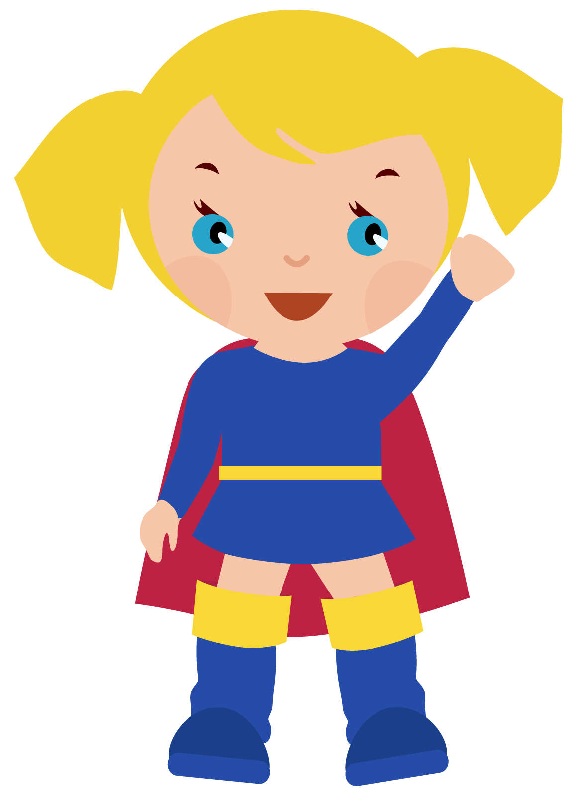 Supergirl clipart. Free