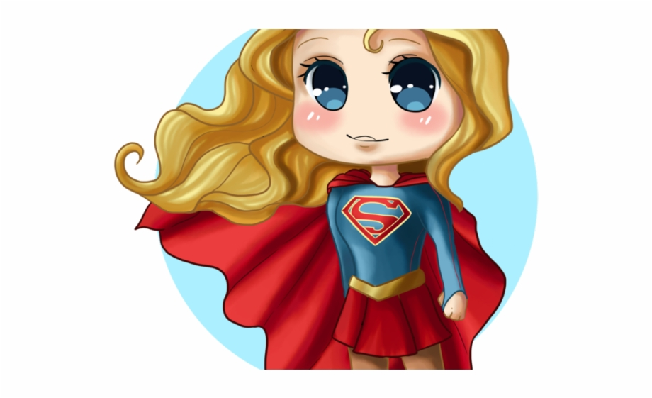 Supergirl clipart cute anime. Chibi superhero png free