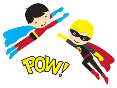 Announcements clipart superhero. Free super heros printables