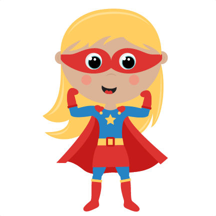 Announcements clipart superhero. Girl