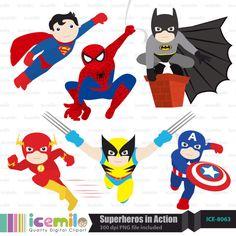 Superheroes clipart. Free superhero fonts freebies
