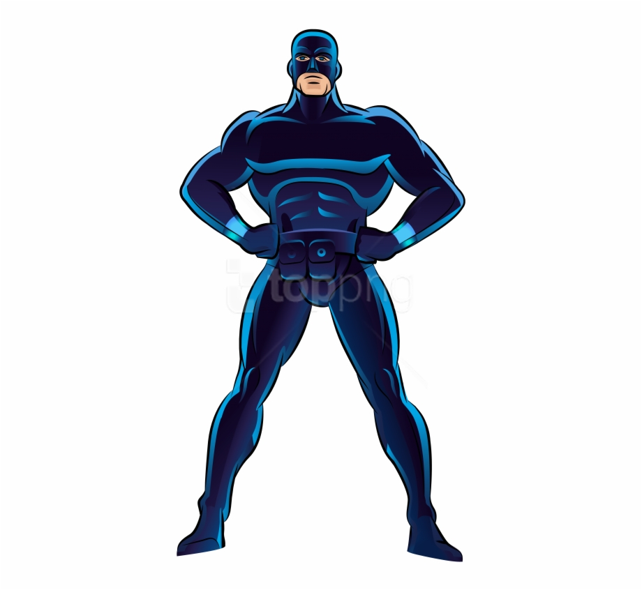 Superheroes clipart blue superhero. Free png download photo
