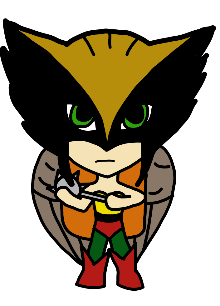 Waffle clipart angry. Hawkgirl chibi by usagi