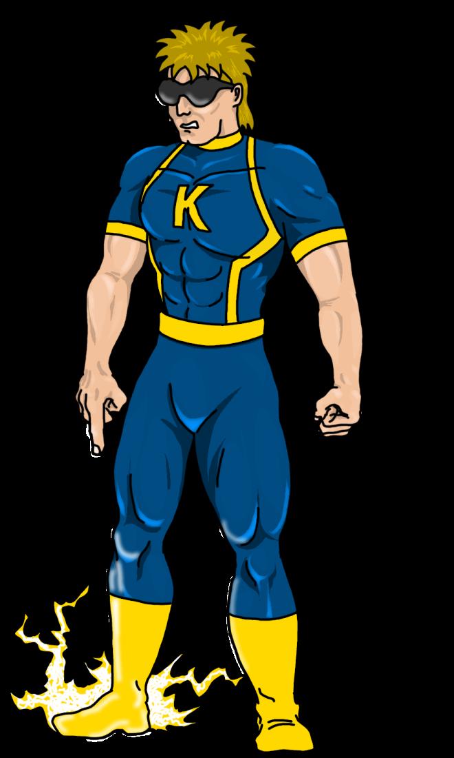 Kickman independent comic database. Superheroes clipart generic