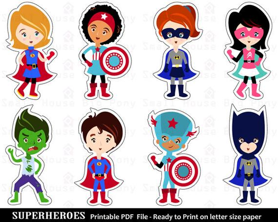 Superheroes clipart printable. Superhero clip art cut