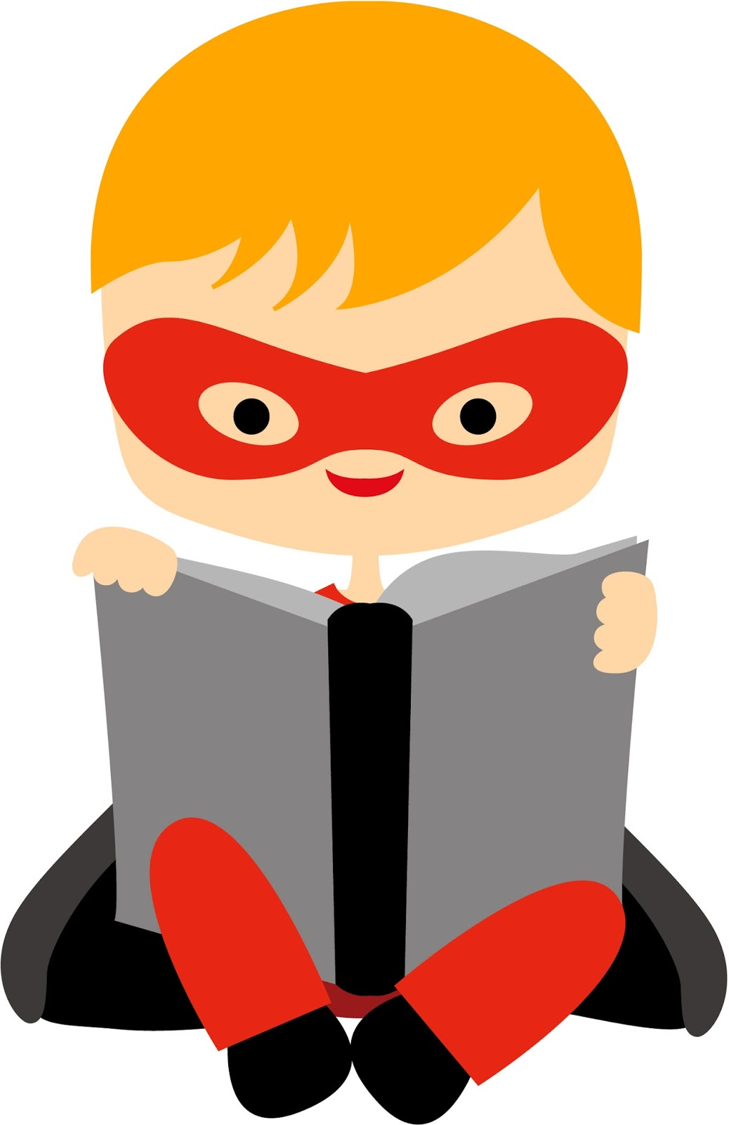 Superheroes clipart super reader. Station