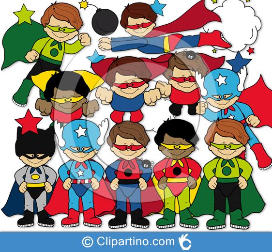 Superheroes clipart superhero team. Images cute boy