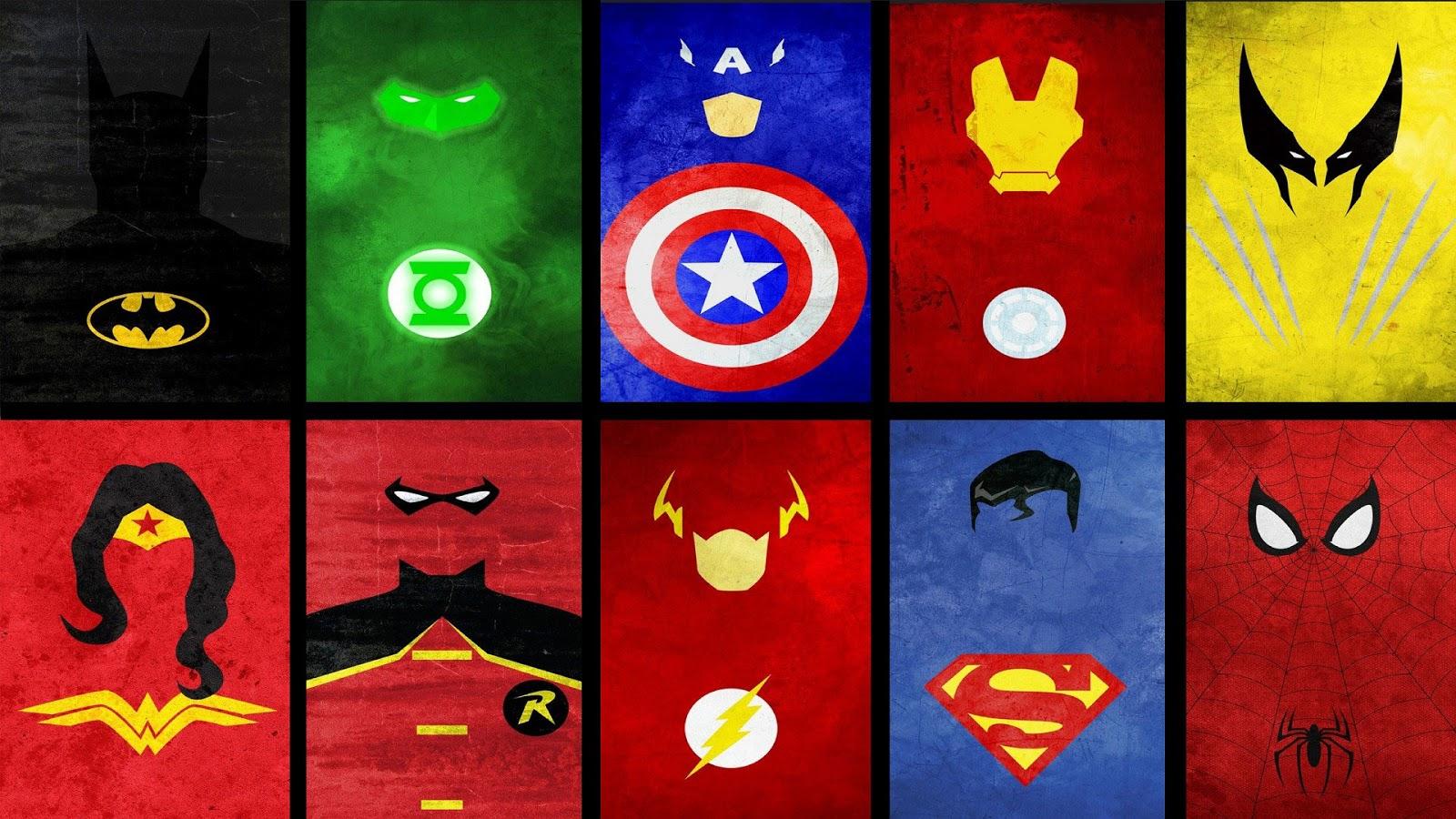 Superheroes clipart wallpaper.  logos on wallpapersafari