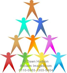 Illustration of a team. Support clipart