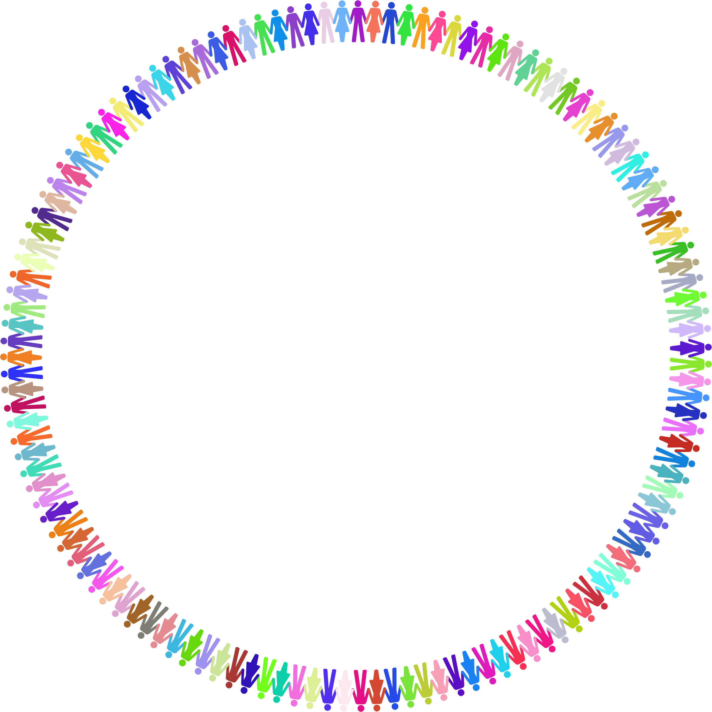 Working clipart cooperation. Prismatic human circle icons