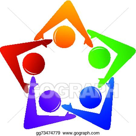 Vector illustration and partnership. Teamwork clipart important