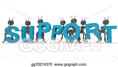 Support clipart support team. Clip art stock illustration