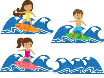 Surfing clipart.  png files summer