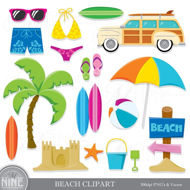Surfing clipart beach theme. Clip art download summer