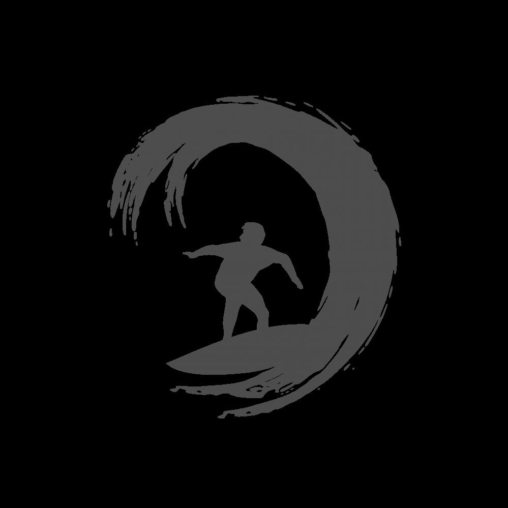 Surfer image logo black. White clipart surfboard