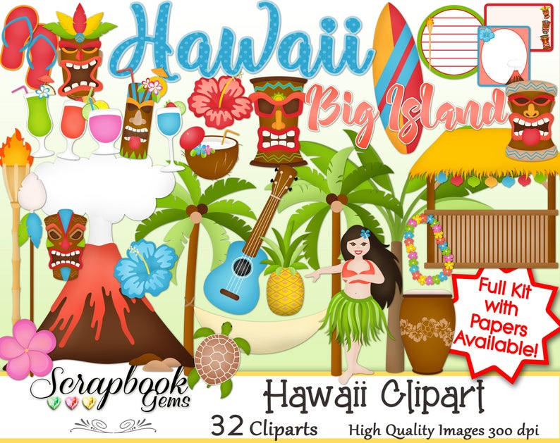Hawaii png files instant. Tiki clipart volcano