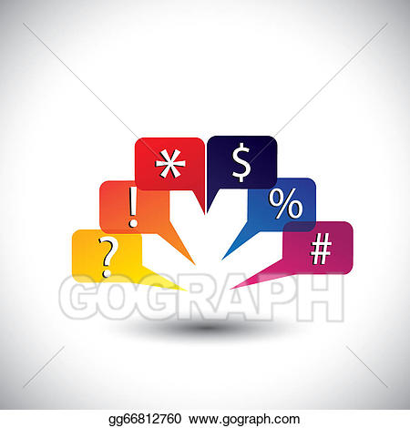 Surprise clipart abstract. Eps vector colorful speech