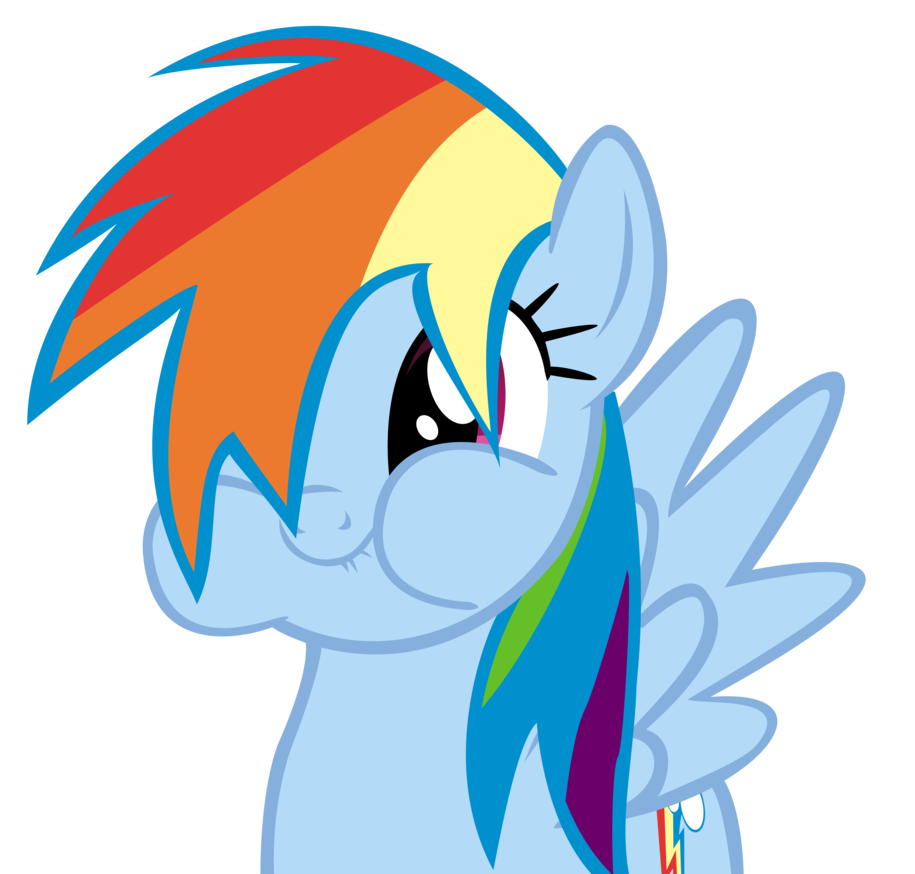 Surprise clipart amazed. Rainbow dash tries to