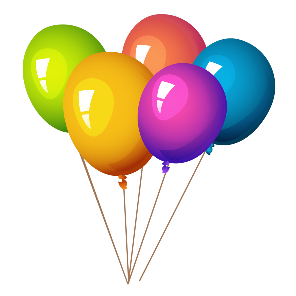 With helium pcs . Surprise clipart balloon