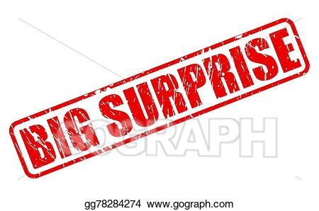 Surprise clipart big. Vector art red stamp