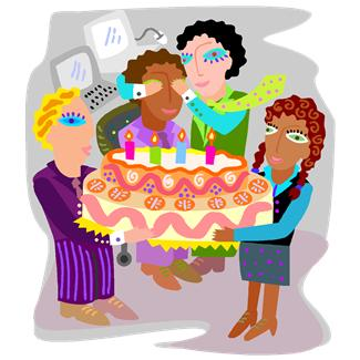 Party ideas and tips. Surprise clipart birthday decor