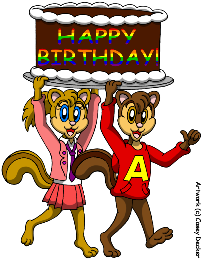 Alvin and brittany s. Surprise clipart birthday surprise