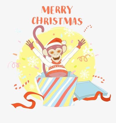 Surprise clipart christmas. Box colored ribbon folding