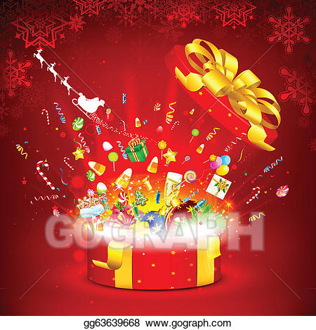 Vector art drawing gg. Surprise clipart christmas