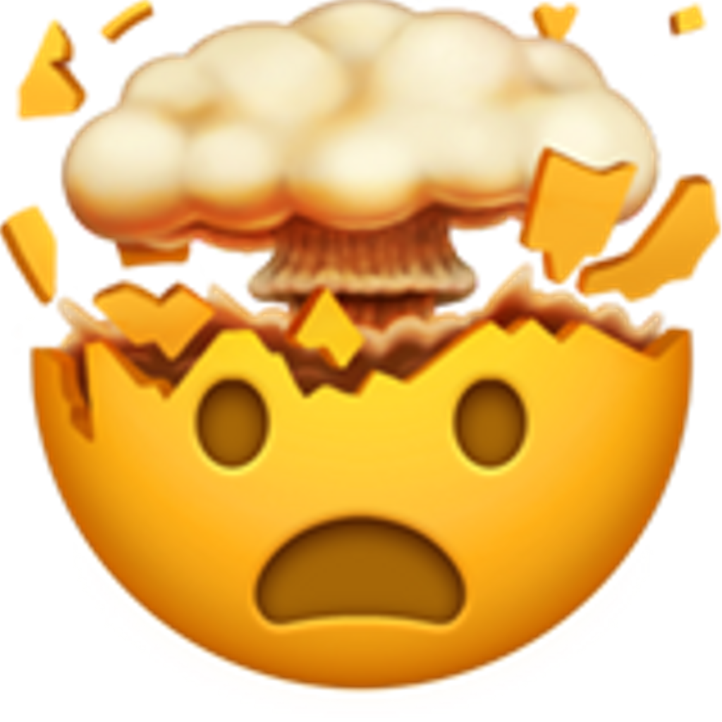 Explosion mood rag omg. Surprise clipart emoji