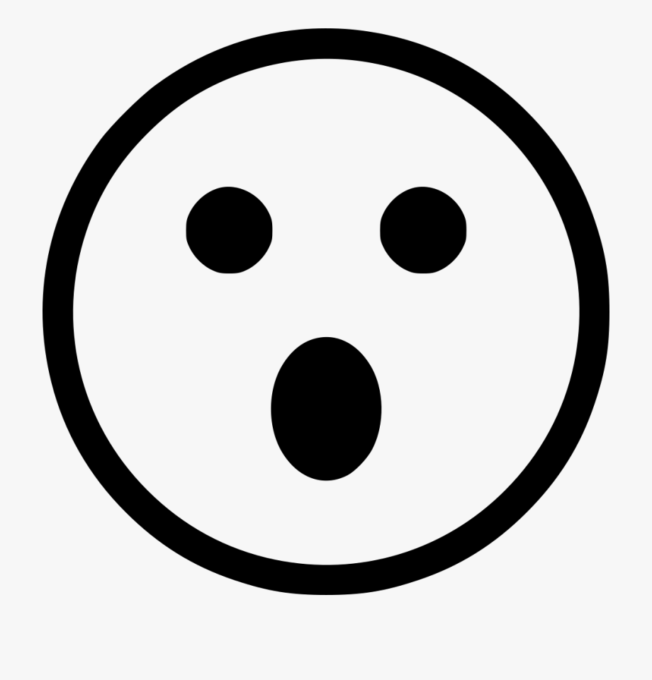 Silence icon png free. Surprise clipart face