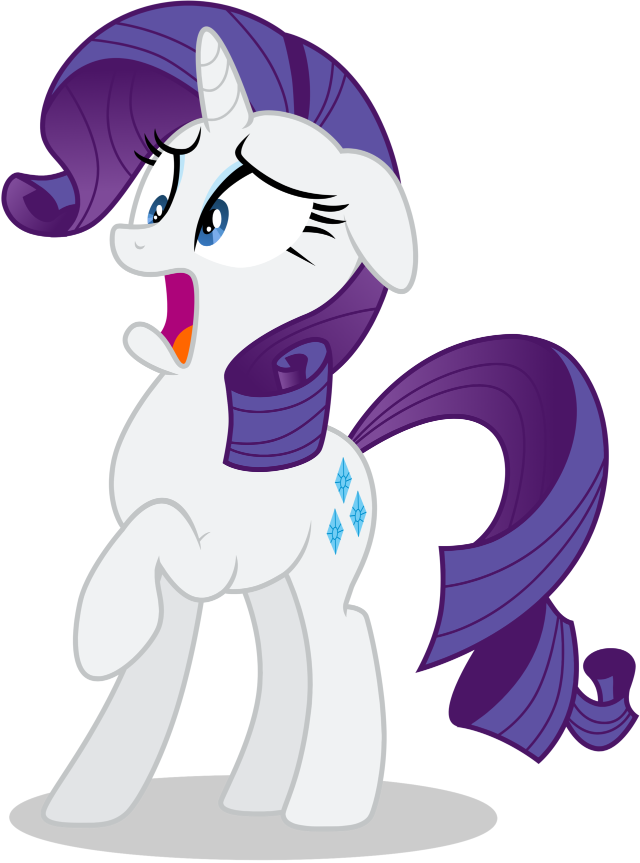 Surprise clipart horrified. Rarity in shock by