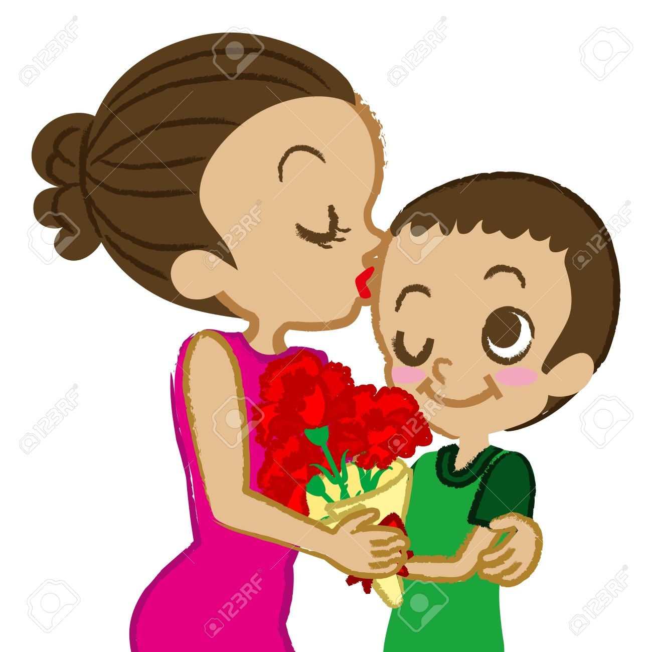 Mom and son free. Surprise clipart mother