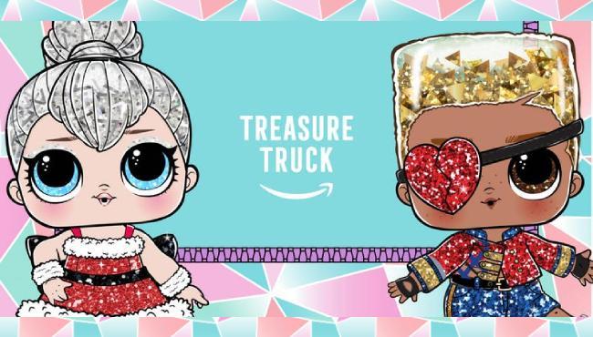 Amazon treasure truck to. Surprise clipart party host