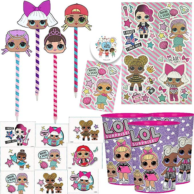 Lol birthday favors pack. Surprise clipart party host