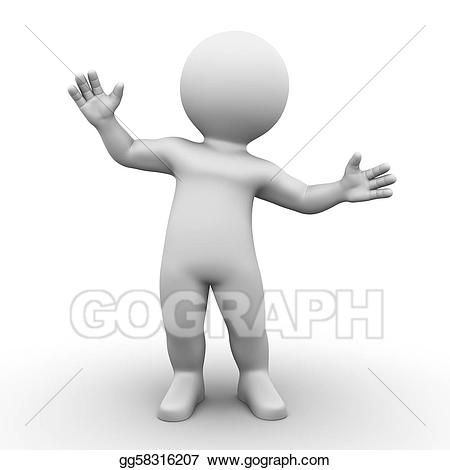 Stock illustration bobby series. Surprise clipart person surprised