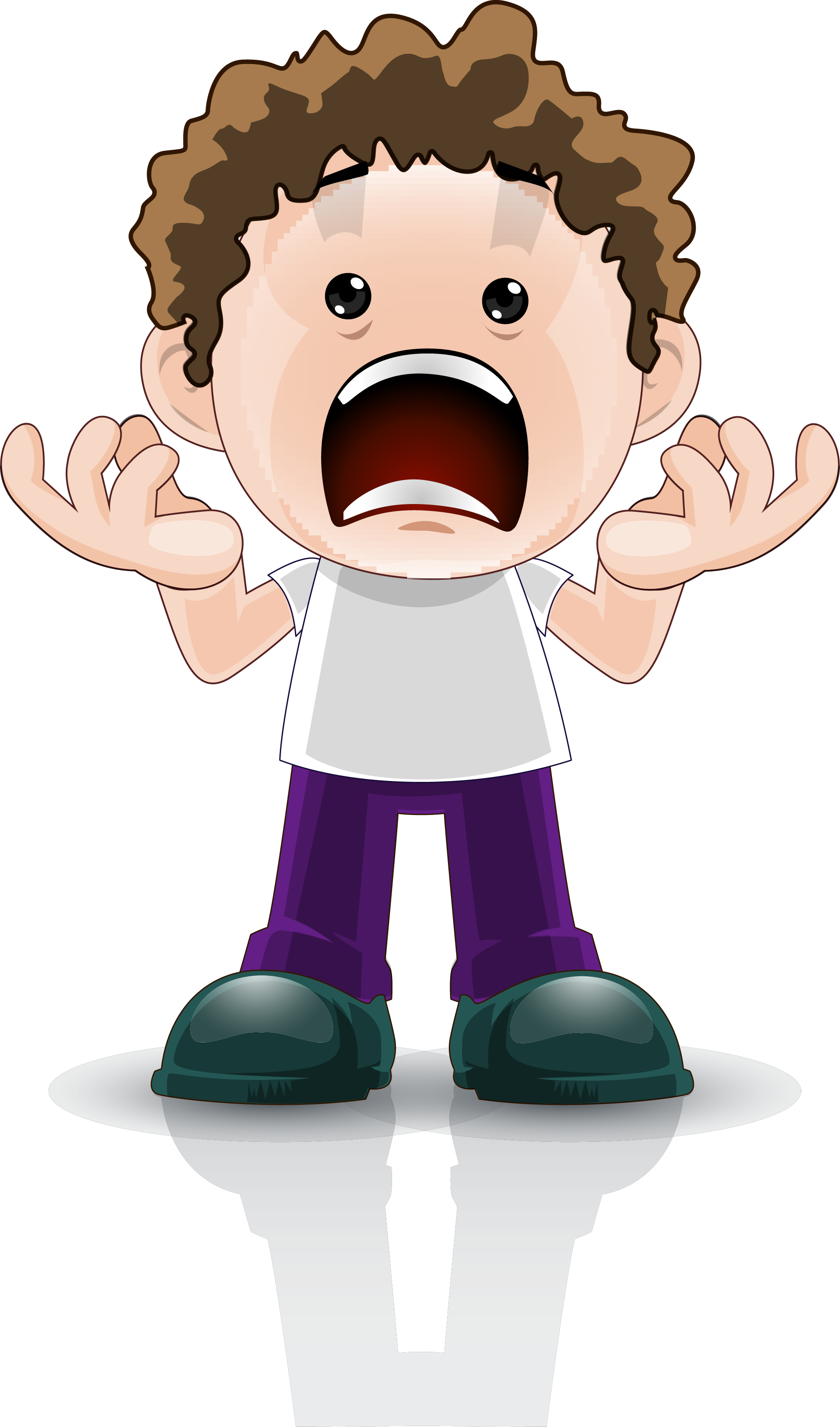 Surprise clipart shock. Cartoon boy facial expression