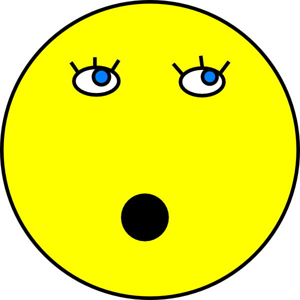 Surprise clipart smiley. Surprised face clip art
