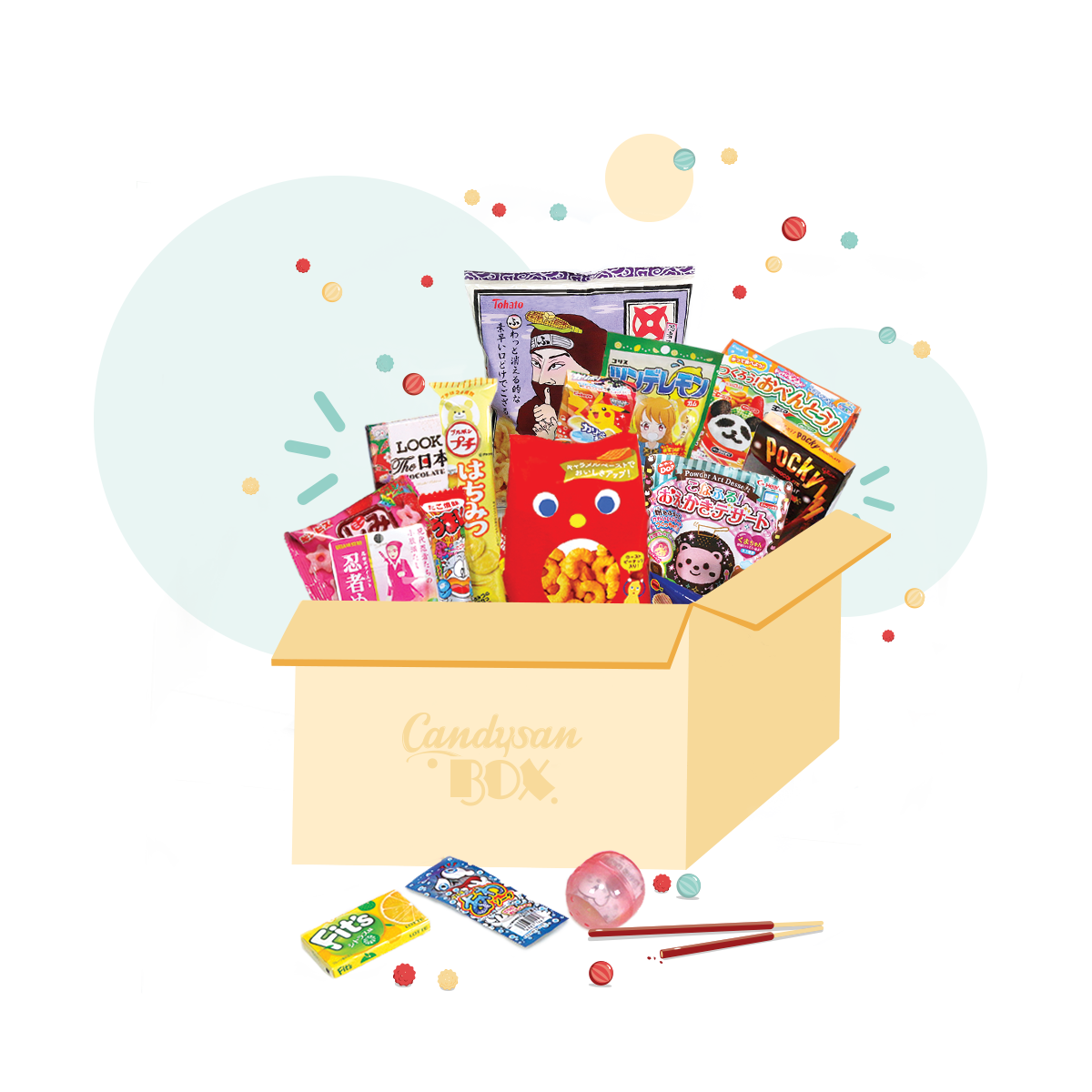 Monthly to the candysan. Surprise clipart subscription box