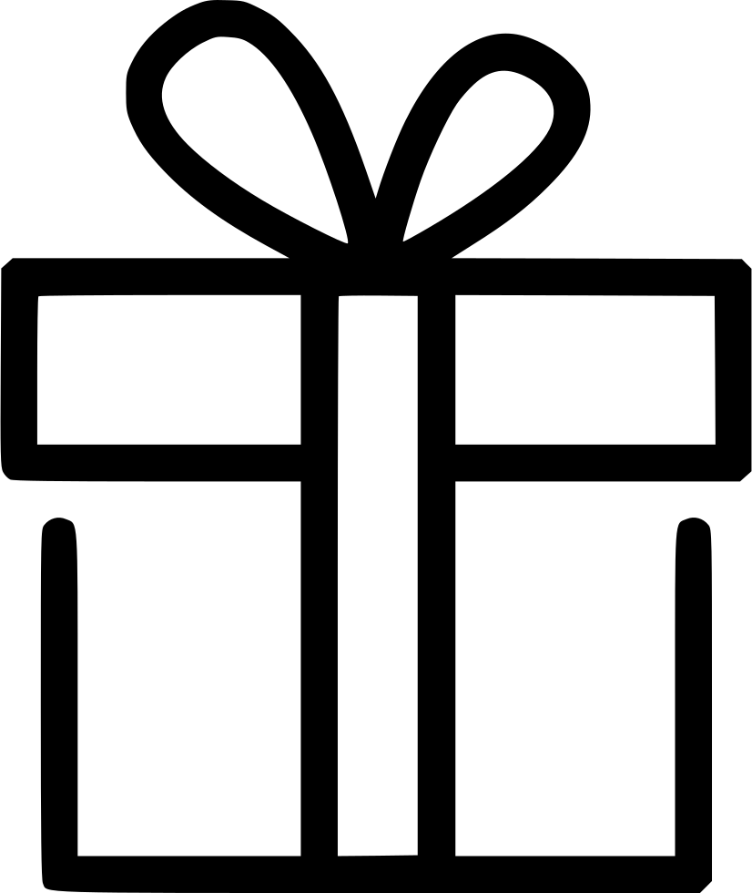 Gift icon png. Surprise wrap box svg