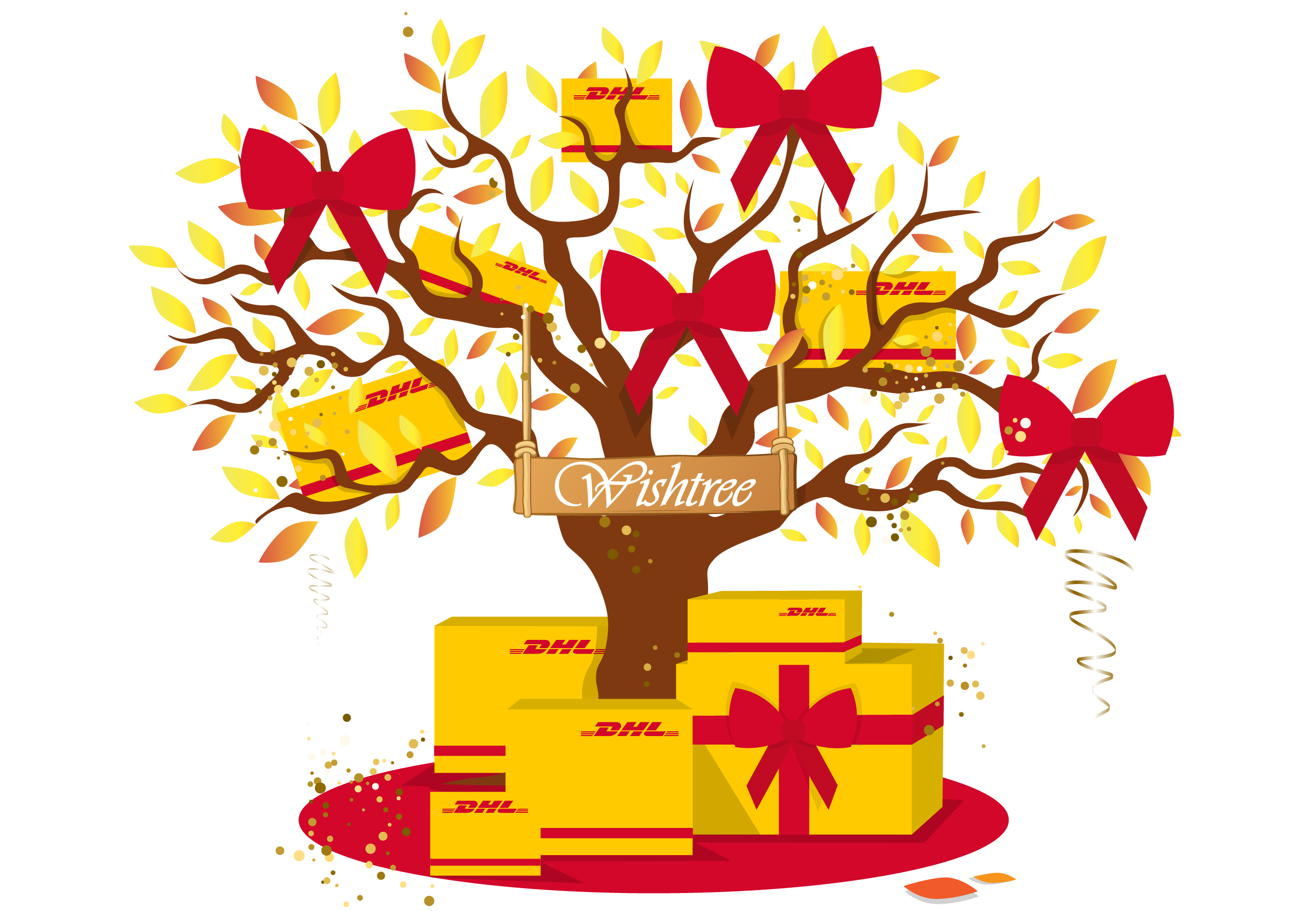 Wishtree dhl express tell. Surprise clipart surprise gift