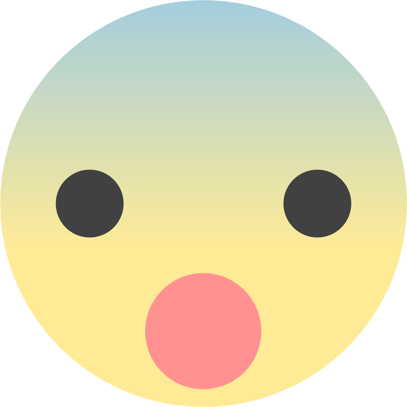 Surprise clipart surprised face. Hd circle transparent png