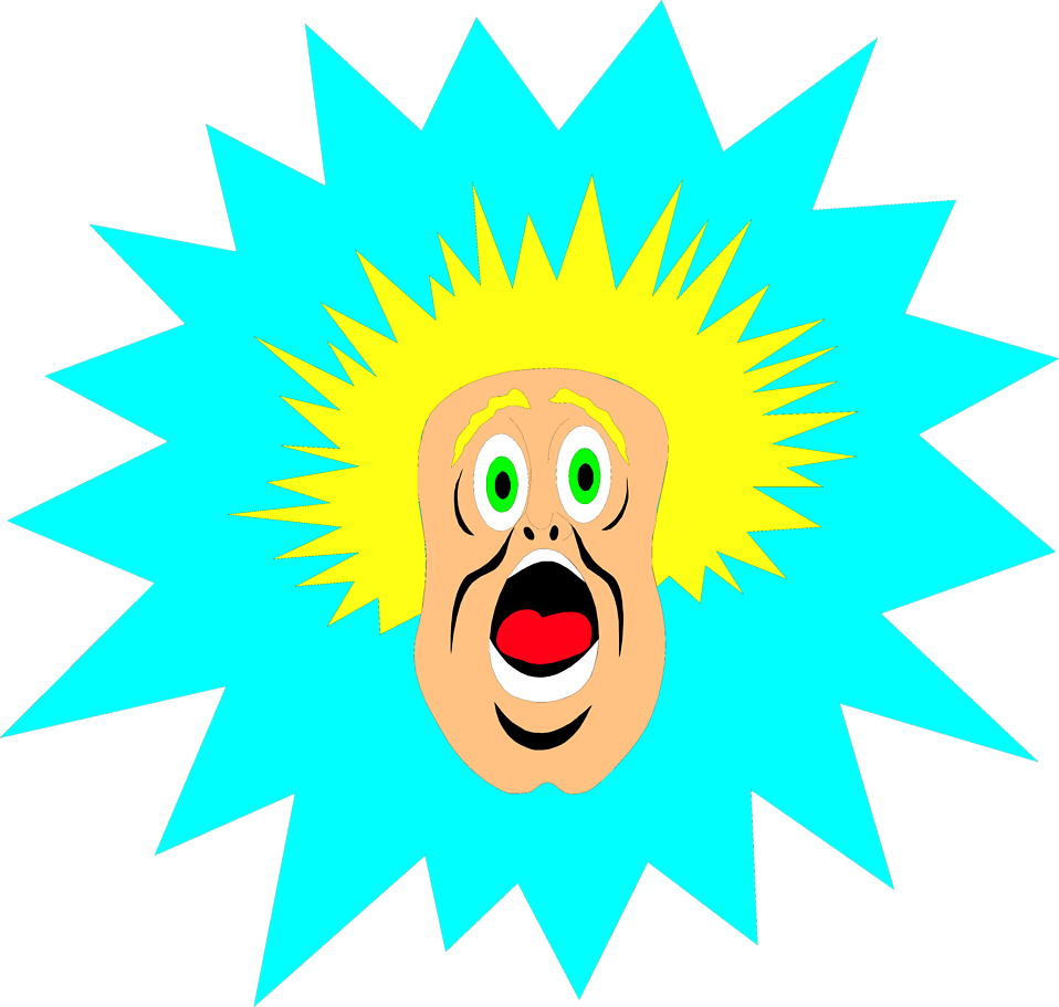 Free stock photo illustration. Surprise clipart surprised man