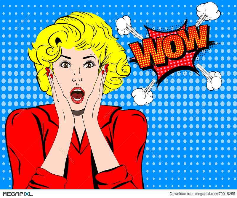 Surprise clipart wow. Face expression surprised woman