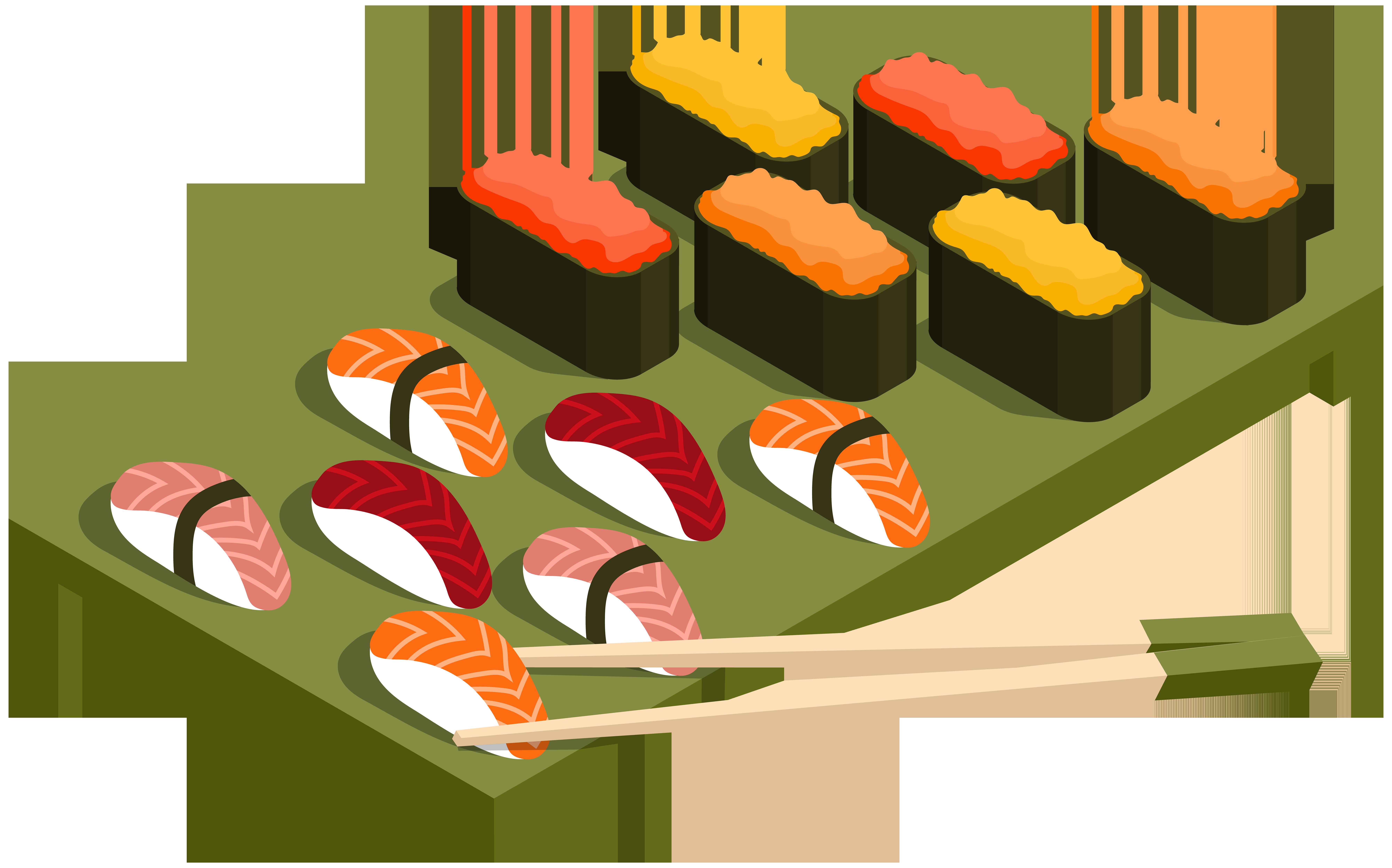 Clipart halloween menu. Sushi png clip art