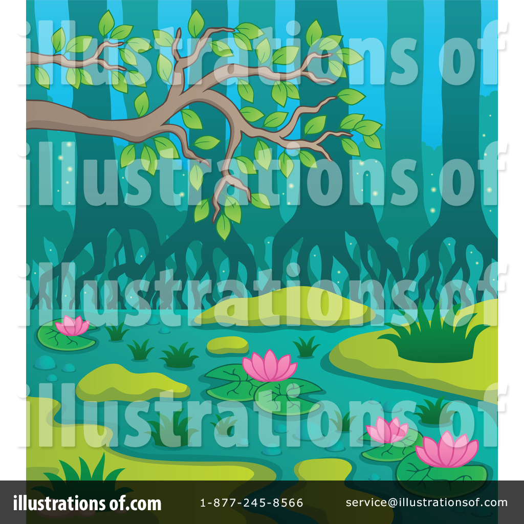 Swamp clipart. Illustration by visekart royaltyfree
