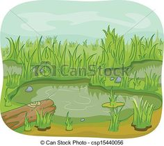 Swamp clipart. Of marsh cartoon world