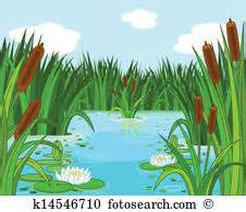 Clipartsco field with pond. Swamp clipart