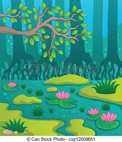 Of theme image illustration. Swamp clipart vector