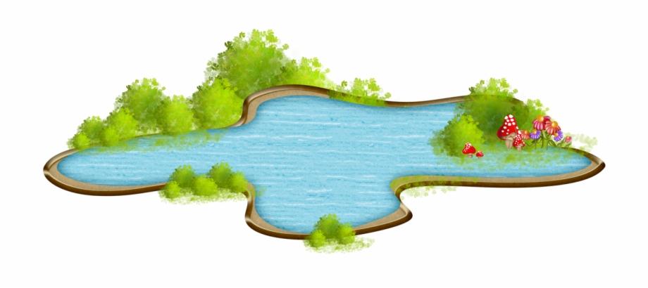 Lawn grass estanque animado. Swamp clipart yard